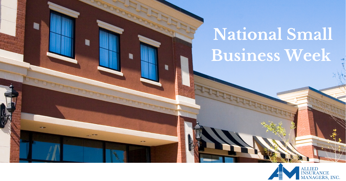 Storefronts side by side for National Small Business Week